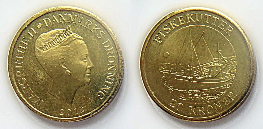 Дания 20 крон 2012
