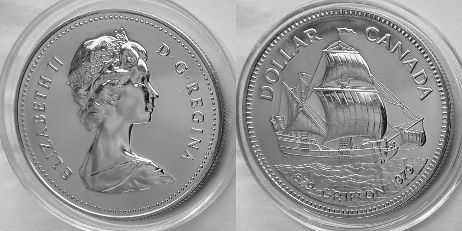 Канада доллар 1979 Грифон