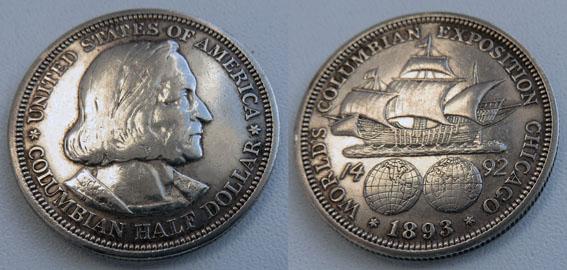 Сша 50 центов 1893