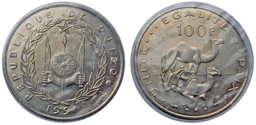Дибути 100 франков 1991