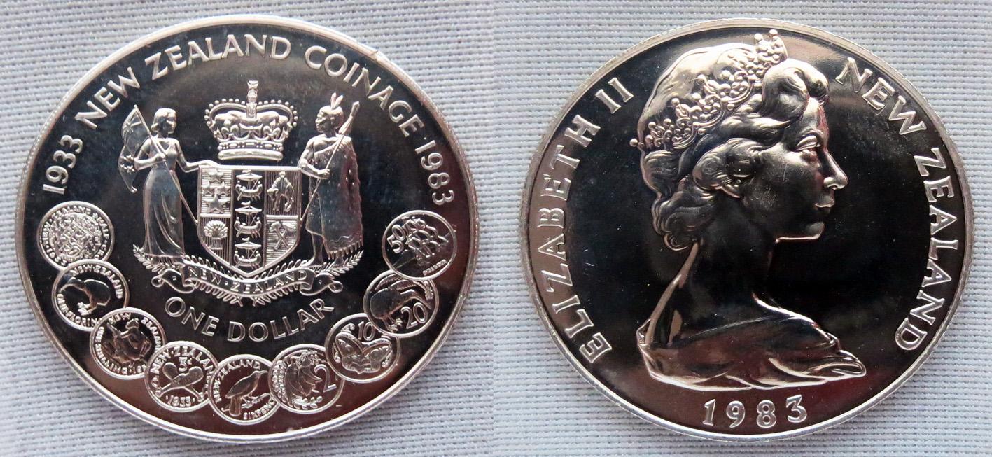 1 доллар 1983