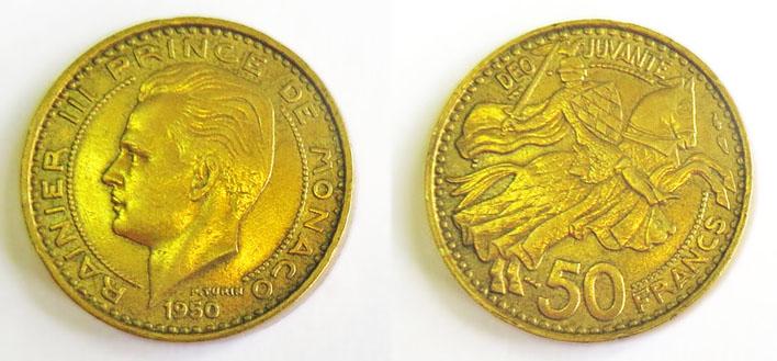 Монако 50 франков 1950