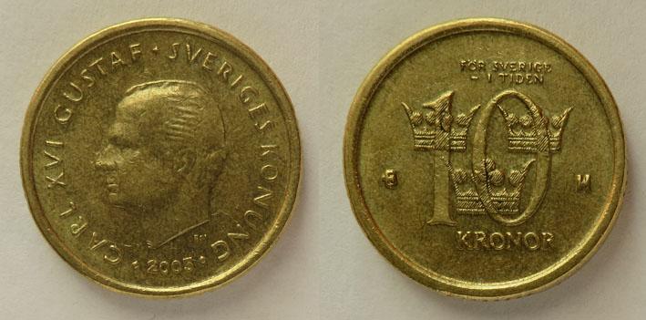 Швеция 10 крон 2005