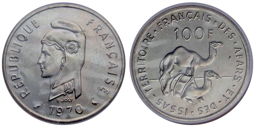 Афар и Исса 100 франков 1970