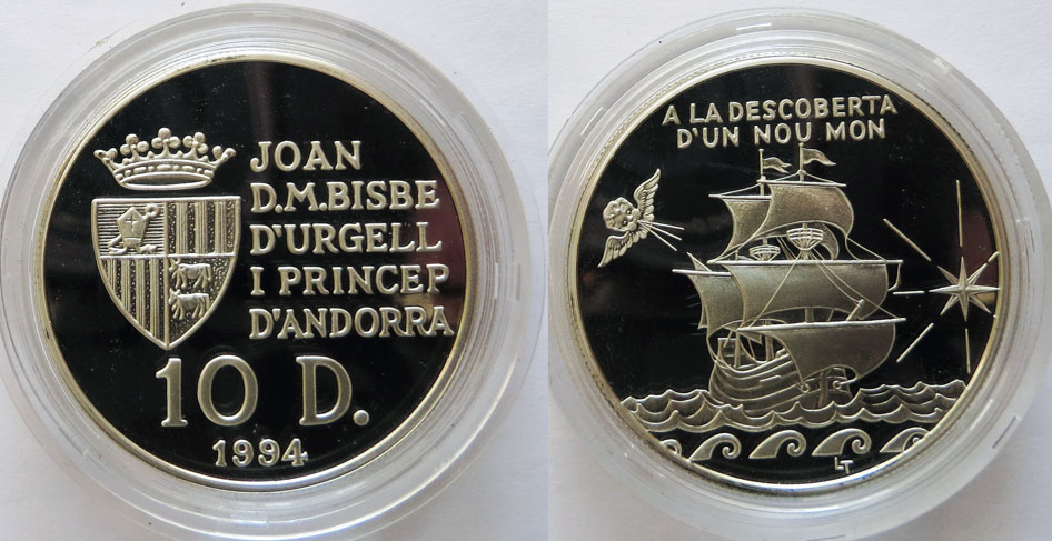 Андорра 10 динер 1994
