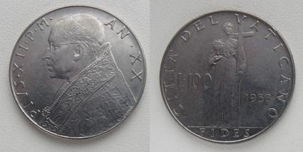 Ватикан 100 лир