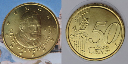 Ватикан 50ЕЦ 2012