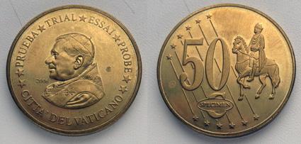Ватикан 50 ЕЦ 2006 проба