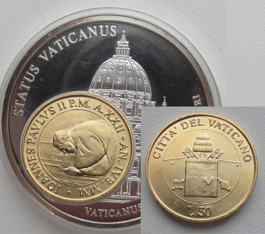 Ватикан 50 лир в жетоне